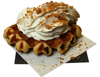 Gaufre totale belge chantilly spéculoos